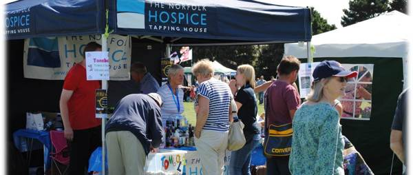 The Hospice tent at an event