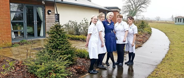 nursing staff outside the Hospice
