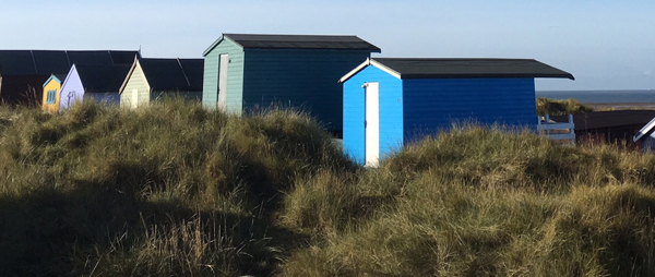 beach huts at old hunstanton