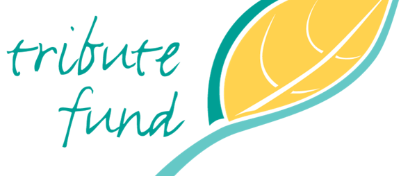 Tribute Funds logo with yellow and green leaf