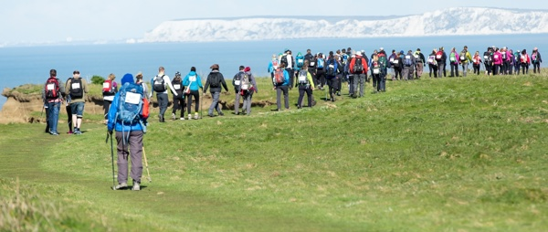 A group of walkers on the Isle of Wight