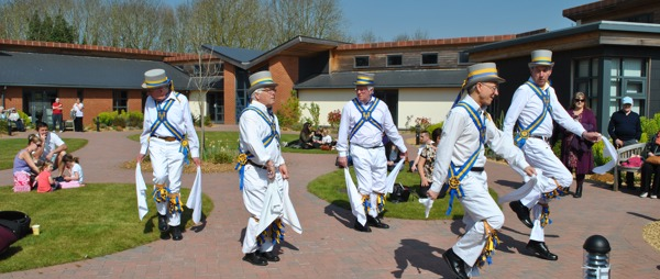The Kings Morris danced in the courtyard