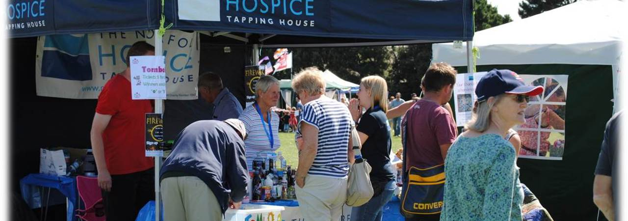 The Hospice fundraising tent at an event