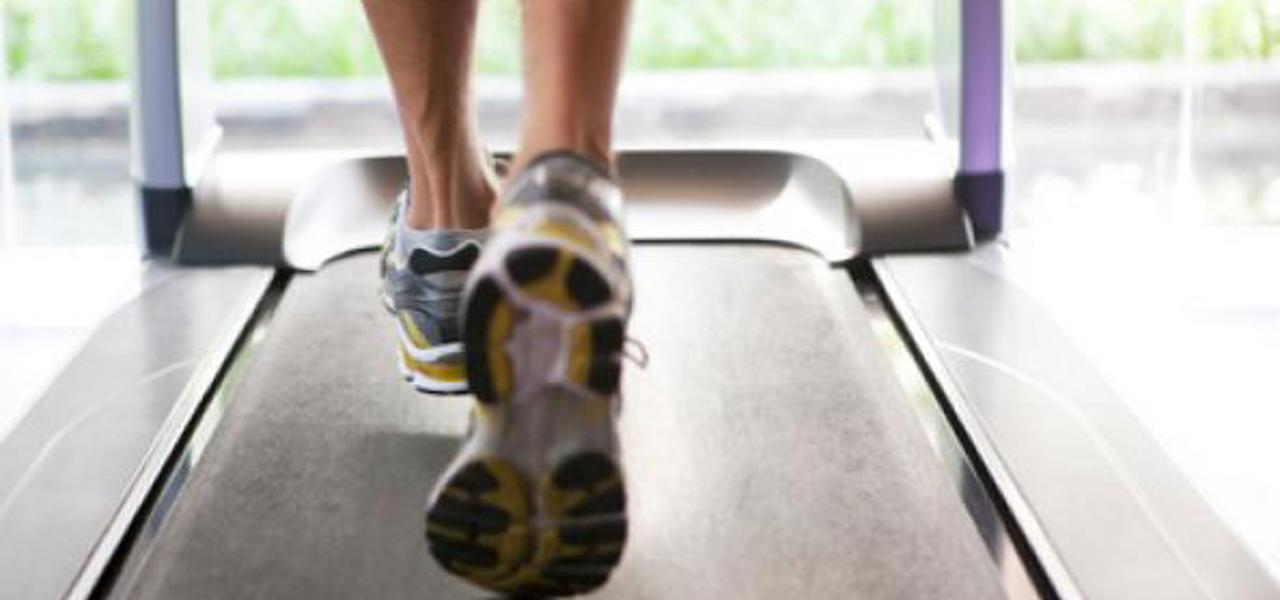 A person on a treadmill