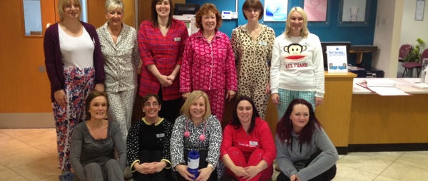 Sandringham Hospital staff dressed in their PJs