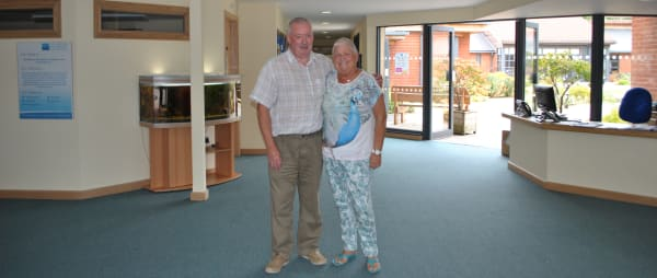 Glenda and John in reception