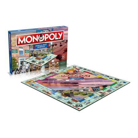 North & West Norfolk Monopoly Board