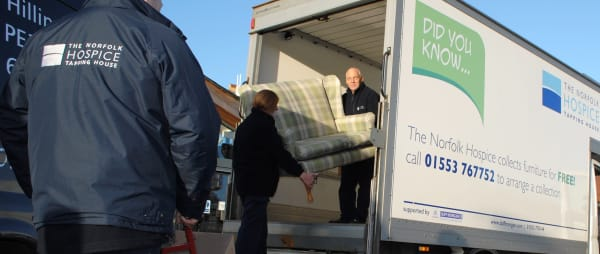 Volunteers loading up the warehouse lorry