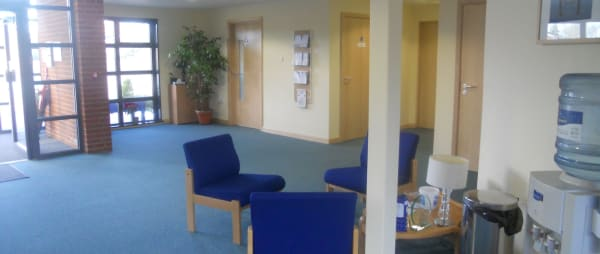 Hospice reception area