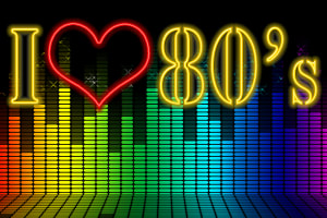 I heart 80s graphic
