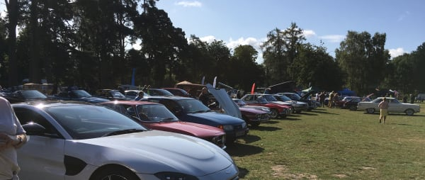 cars lined up at a show at Sandringham